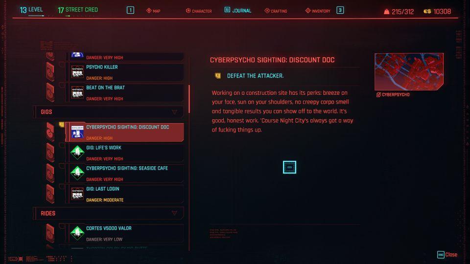 cyberpunk 2077 - discount doc (cyberpsycho sighting)