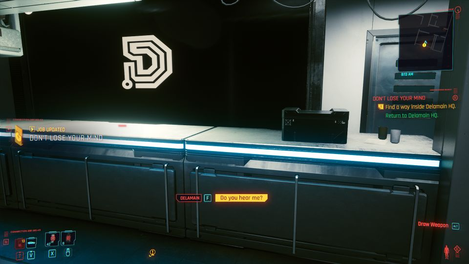 cyberpunk 2077 - don't lose your mind quest