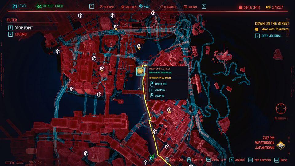 cyberpunk 2077 - down on the street guide