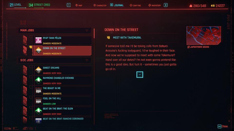 cyberpunk 2077 - down on the street