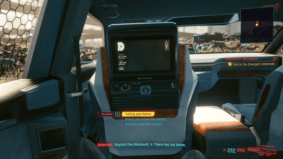 cyberpunk 2077 - epistrophy badlands location
