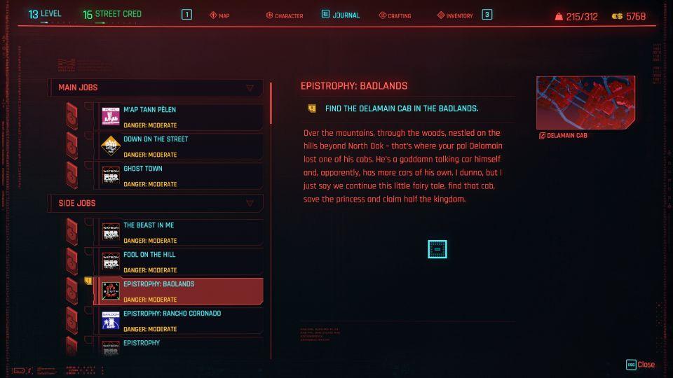 cyberpunk 2077 - epistrophy badlands