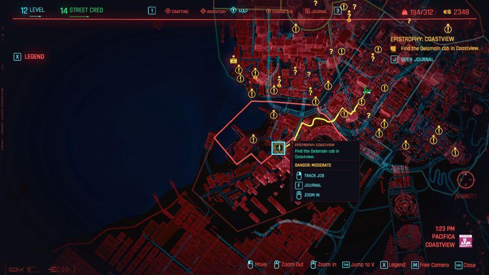 cyberpunk 2077 - epistrophy coastview location