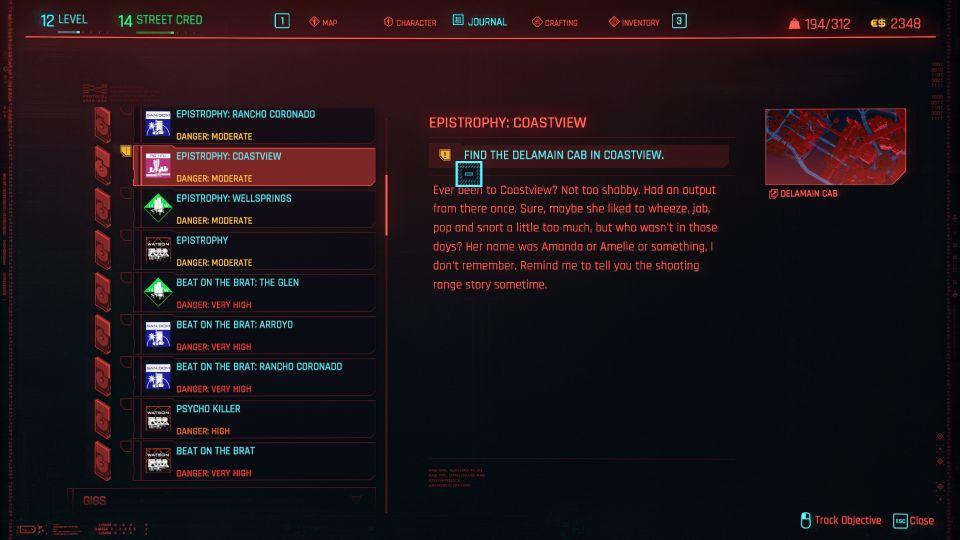 cyberpunk 2077 - epistrophy coastview