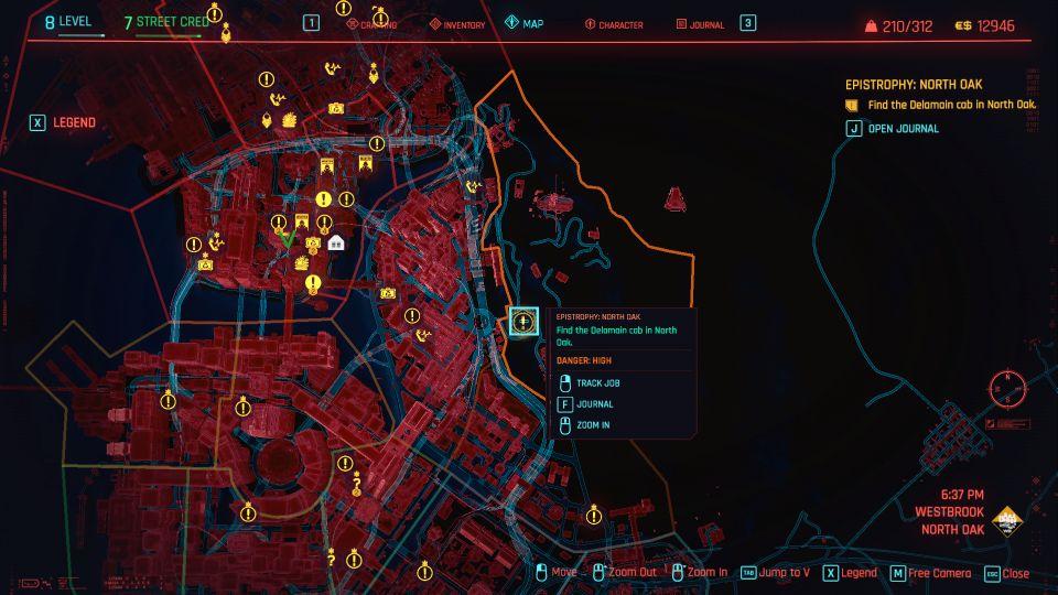 cyberpunk 2077 - epistrophy north oak guide