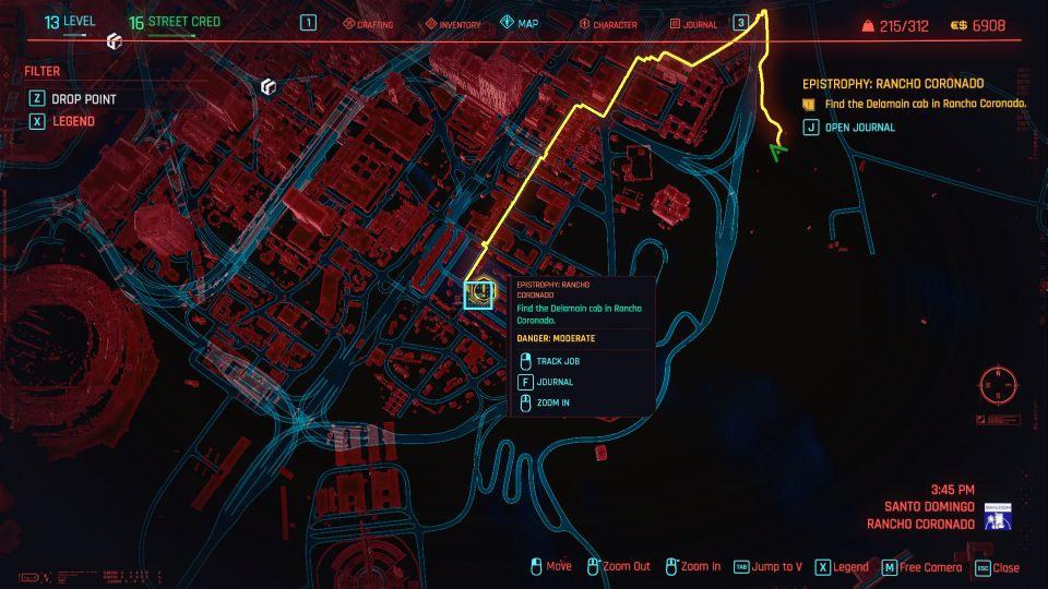 cyberpunk 2077 - epistrophy rancho coronado location
