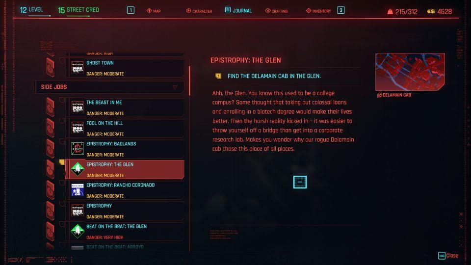 cyberpunk 2077 - epistrophy the glen