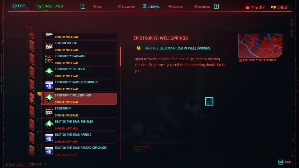 cyberpunk 2077 - epistrophy wellsprings
