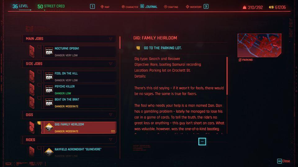 cyberpunk 2077 - family heirloom