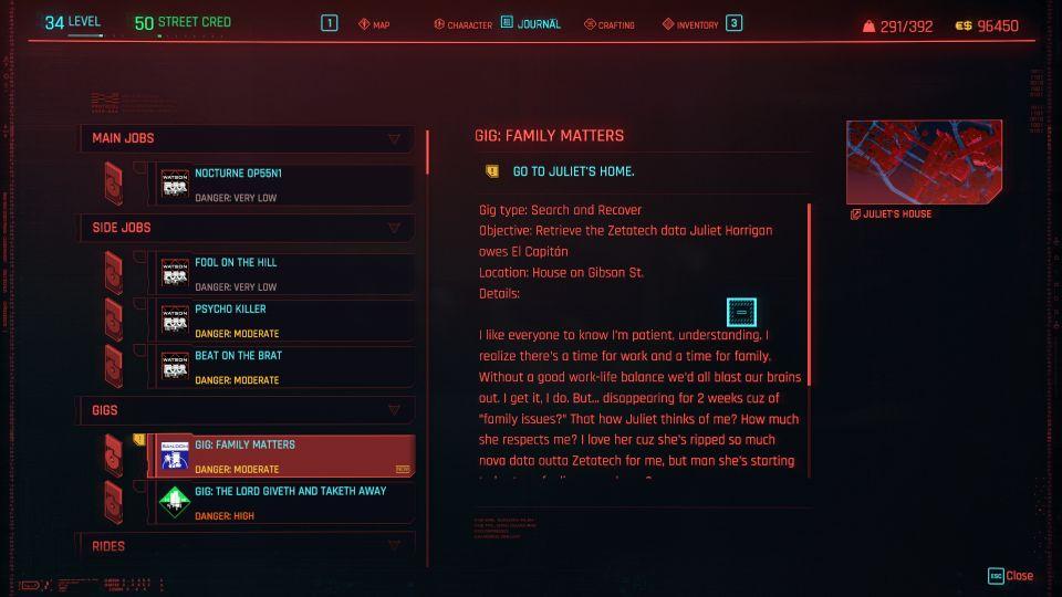 cyberpunk 2077 - family matters