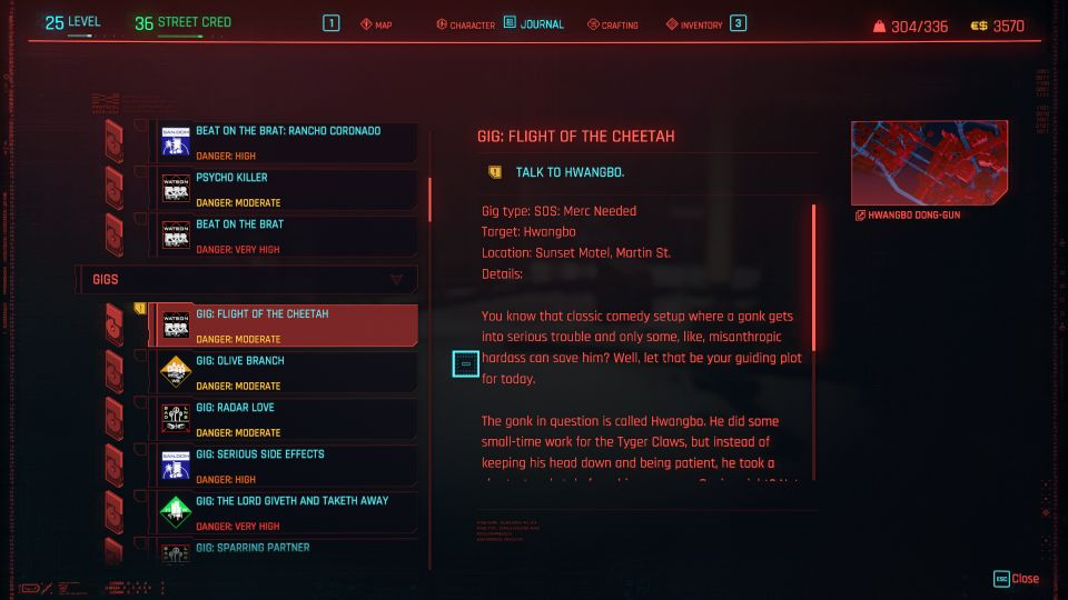 cyberpunk 2077 - flight of the cheetah