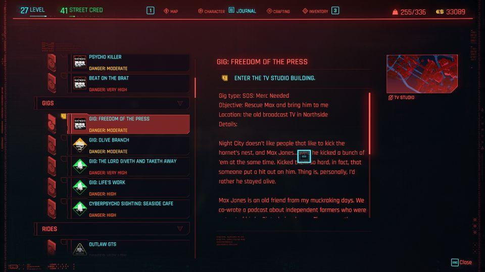 cyberpunk 2077 - freedom of the press