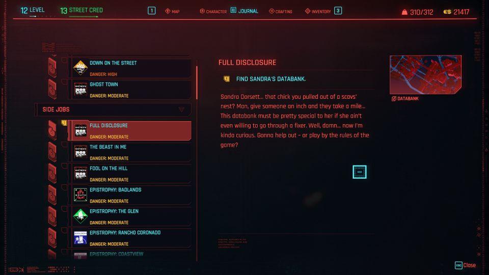 cyberpunk 2077 - full disclosure