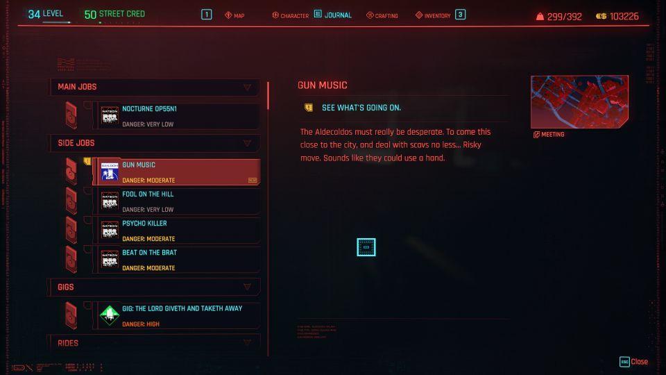 cyberpunk 2077 - gun music guide