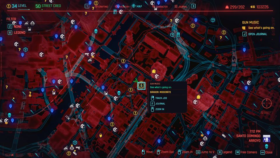cyberpunk 2077 - gun music walkthrough