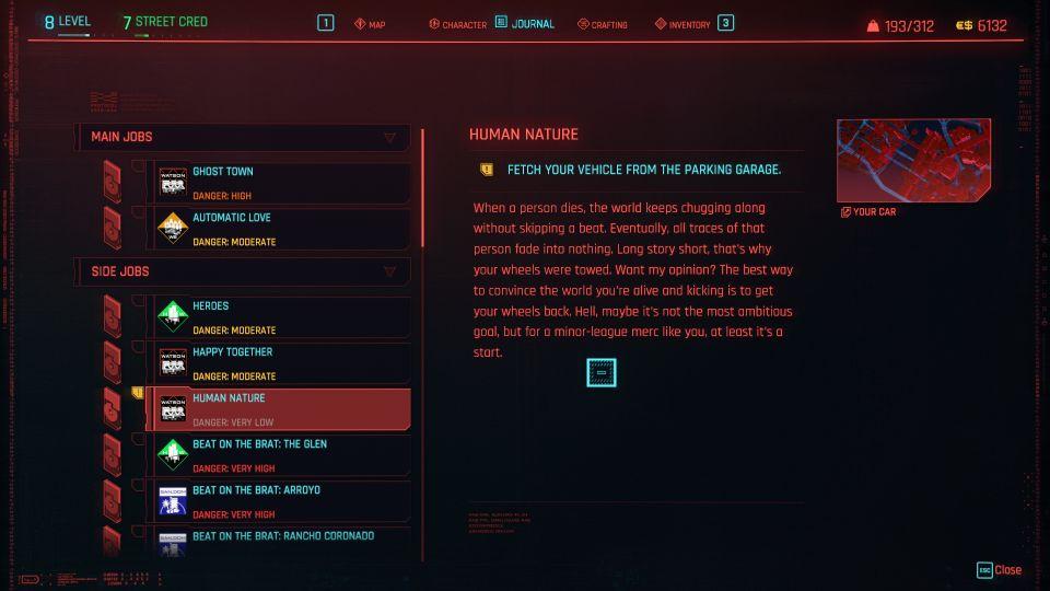 cyberpunk 2077 - human nature