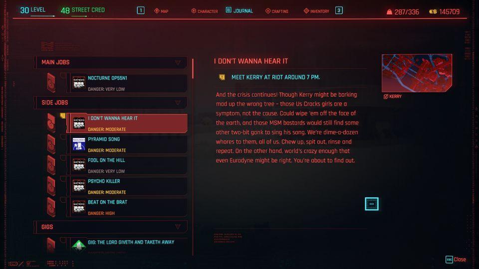 cyberpunk 2077 - i don't wanna hear it