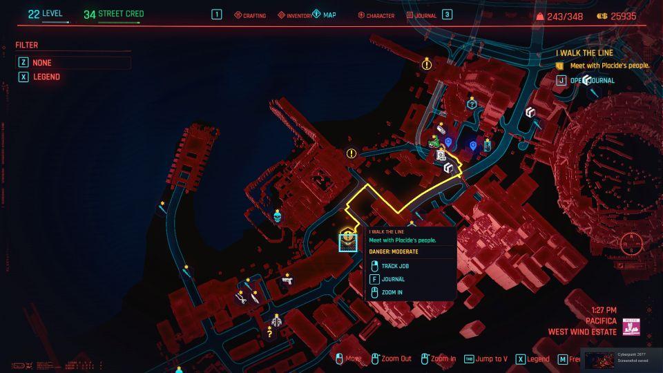 cyberpunk 2077 - i walk the line