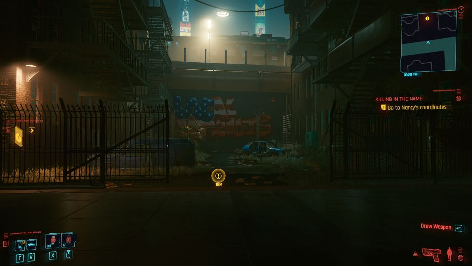 cyberpunk 2077 - killing in the name location