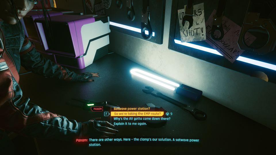 cyberpunk 2077 - lightning breaks mission