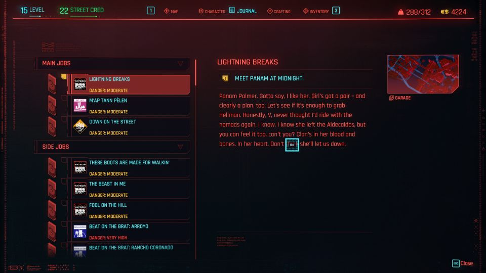 cyberpunk 2077 - lightning breaks