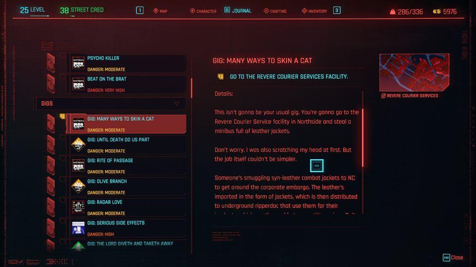 cyberpunk 2077 - many ways to skin a cat