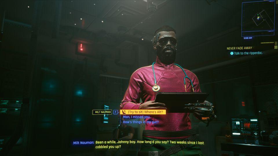 cyberpunk 2077 - never fade away missio