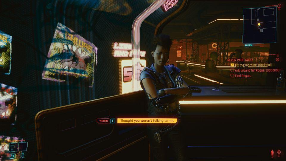 cyberpunk 2077 - never fade away tips