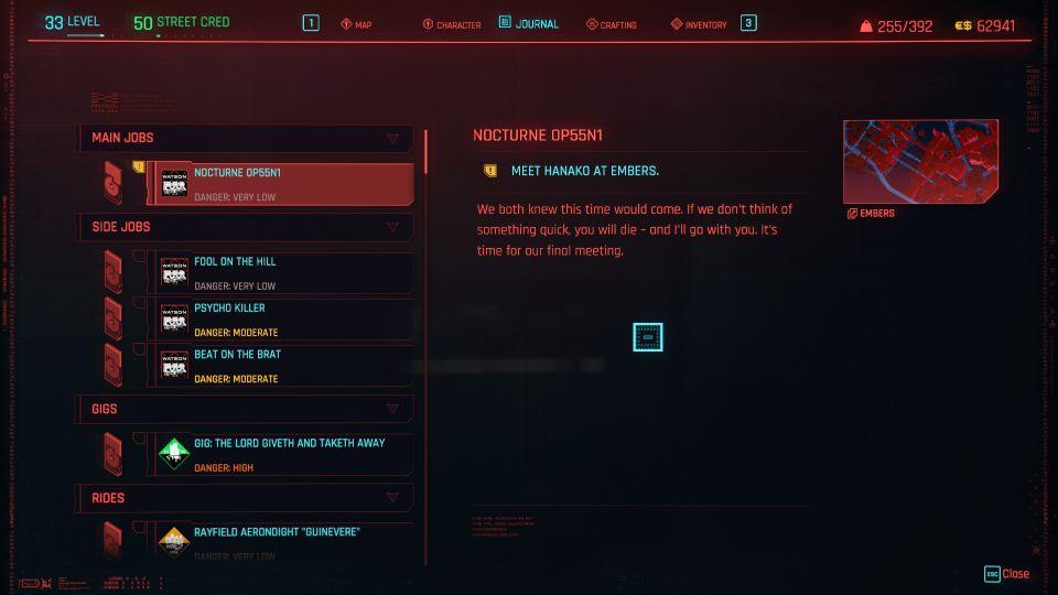 cyberpunk 2077 - nocturne op55N1
