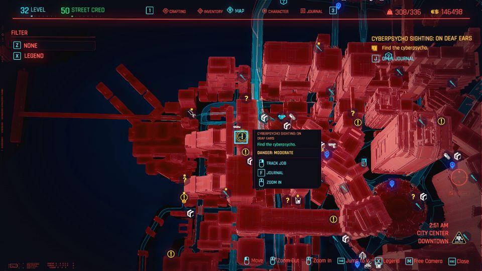 cyberpunk 2077 - on deaf ears (cyberpsycho sighting) guide