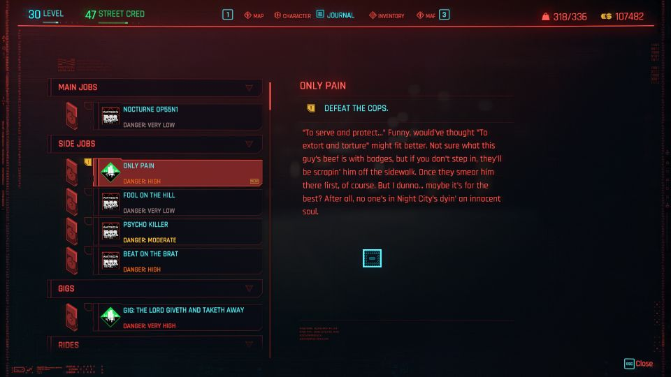 cyberpunk 2077 - only pain
