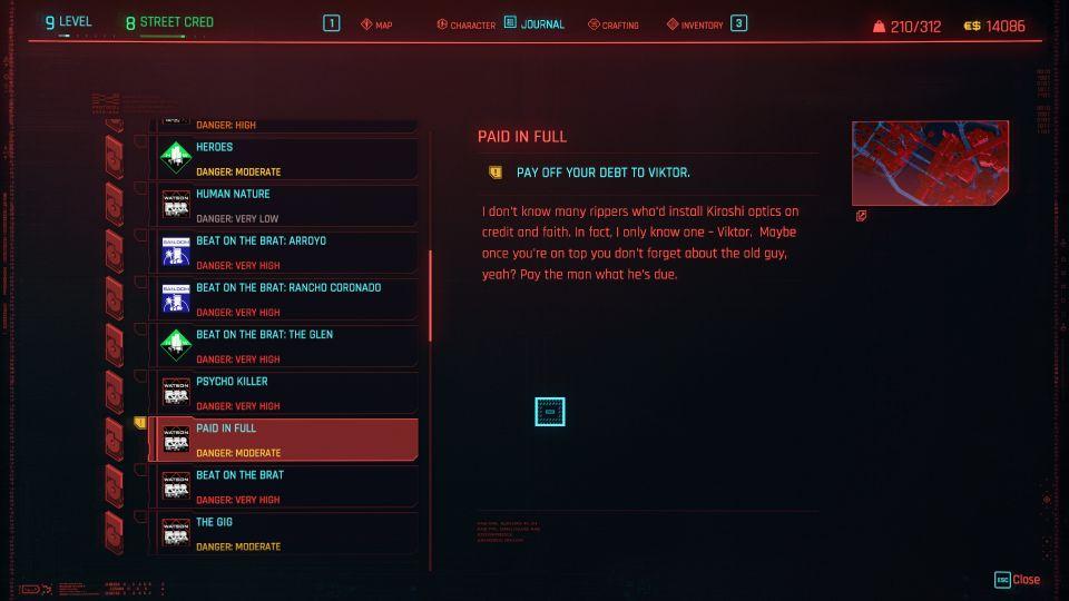 cyberpunk 2077 paid in full