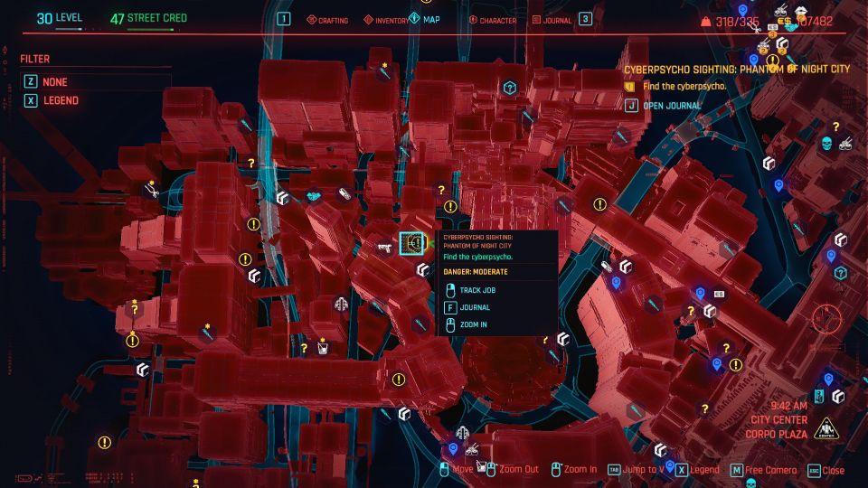 cyberpunk 2077 - phantom of night city cyberpsycho sighting