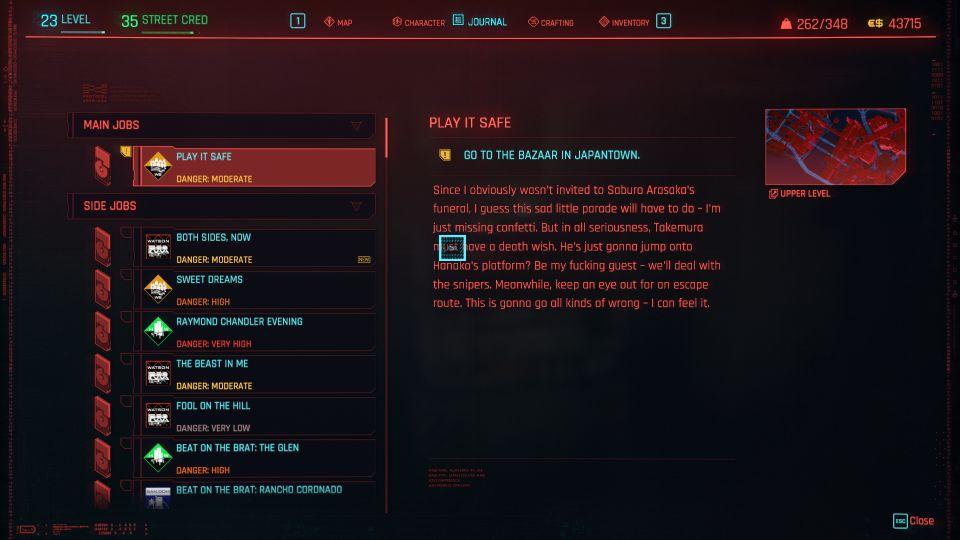 cyberpunk 2077 - play it safe