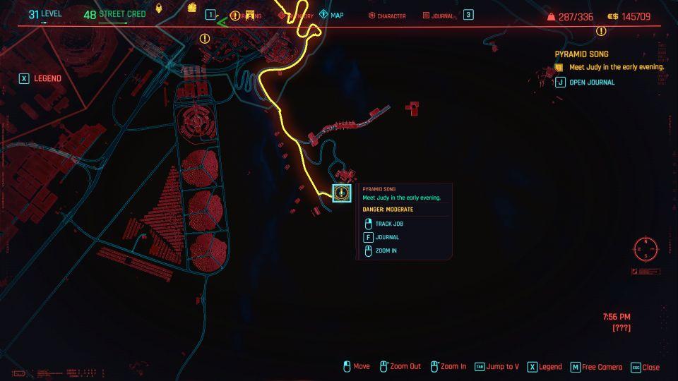 cyberpunk 2077 - pyramid song guide