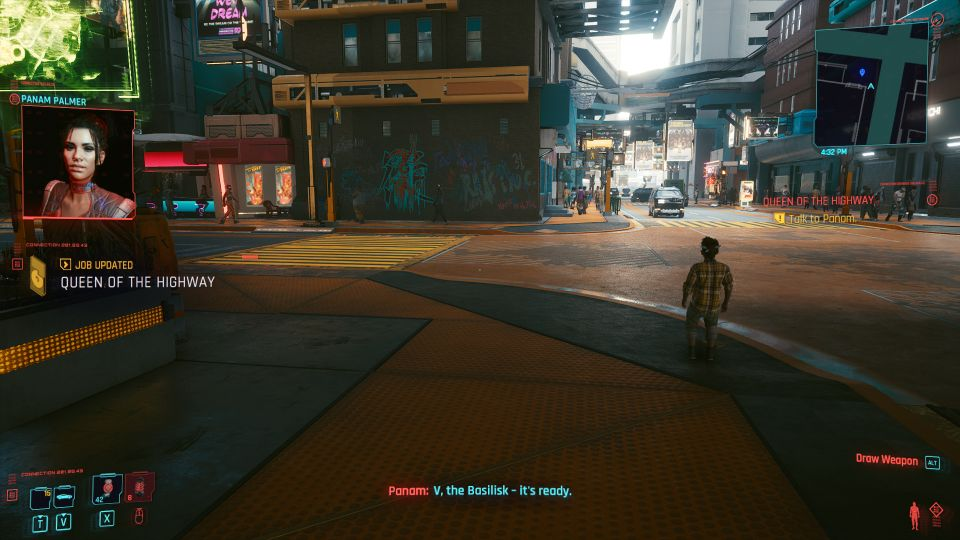 cyberpunk 2077 - queen on the highway guide