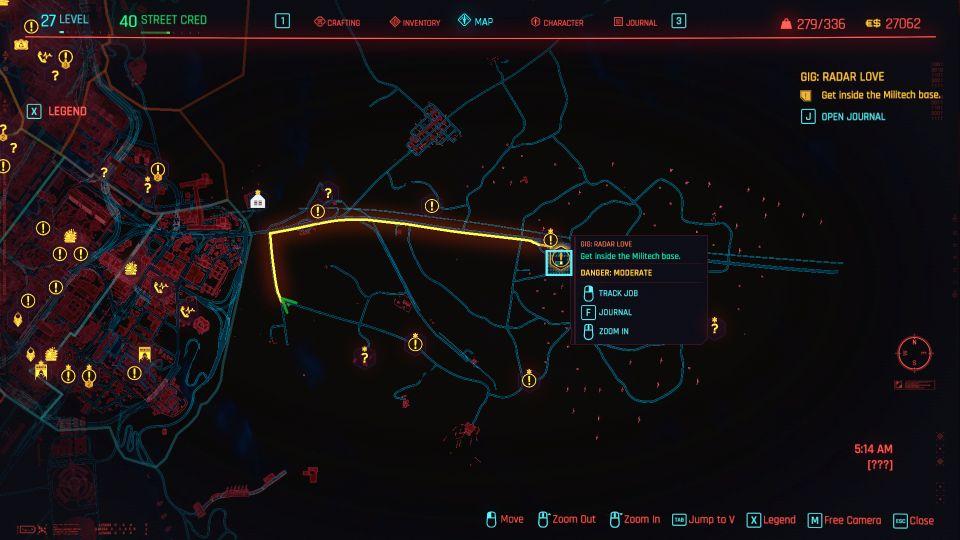 cyberpunk 2077 - radar love guide