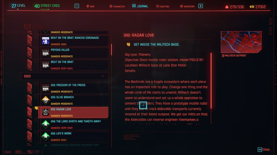 cyberpunk 2077 - radar love