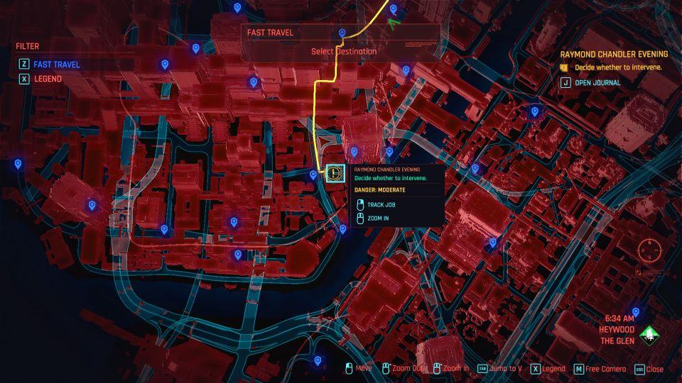 cyberpunk 2077 - raymond chandler evening guide