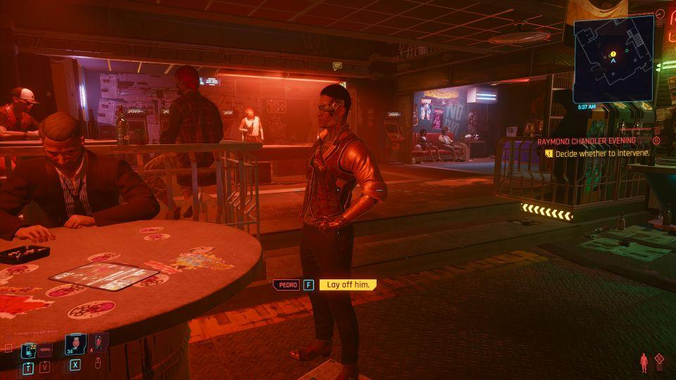 cyberpunk 2077 - raymond chandler evening mission