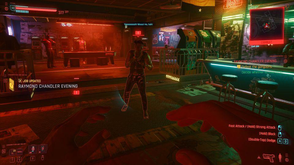 cyberpunk 2077 - raymond chandler evening walkthrough