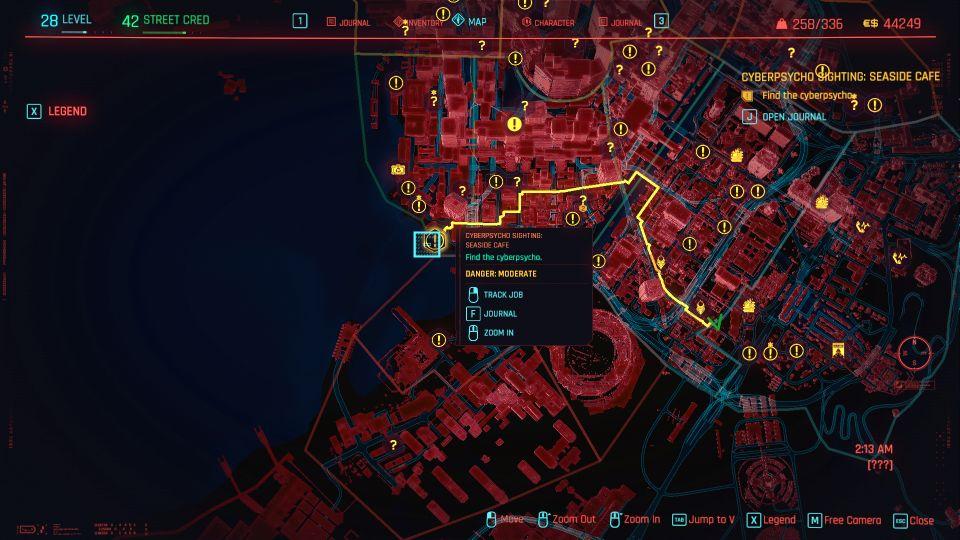 cyberpunk 2077 - seaside cafe (cyberpsycho sighting) guide