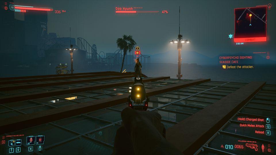 cyberpunk 2077 - seaside cafe (cyberpsycho sighting) walkthrough