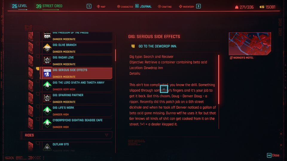 cyberpunk 2077 - serious side effects