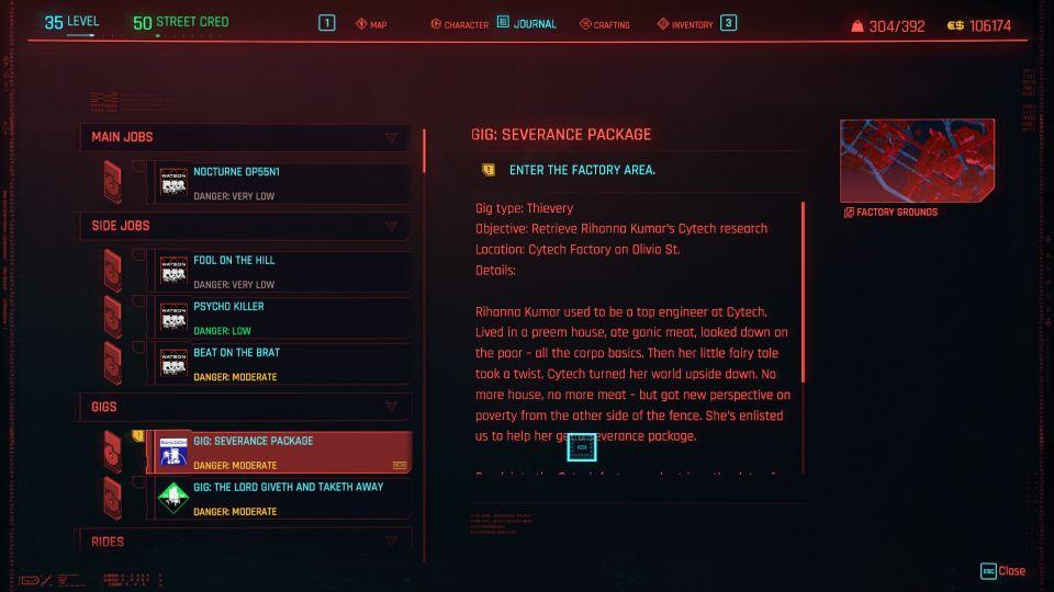 cyberpunk 2077 - severance package guide