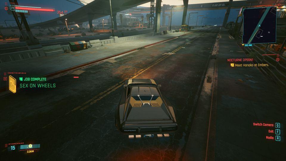 cyberpunk 2077 - sex on wheels walkthrough