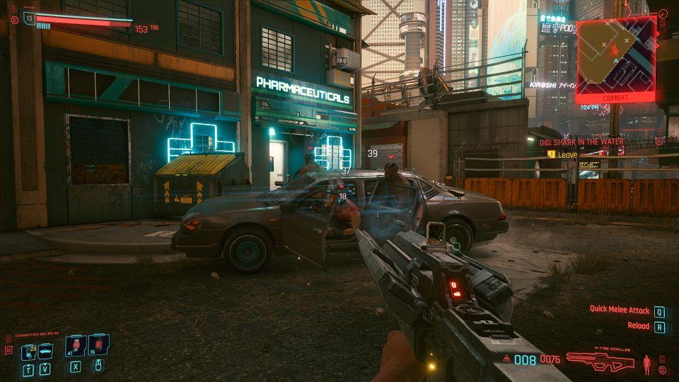 cyberpunk 2077 - shark in the water gig