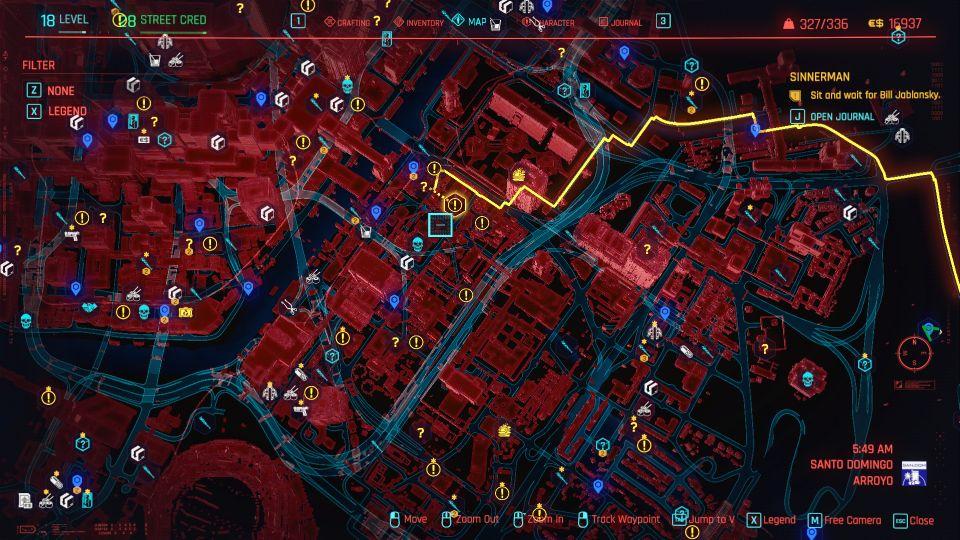 cyberpunk 2077 - sinnerman guide