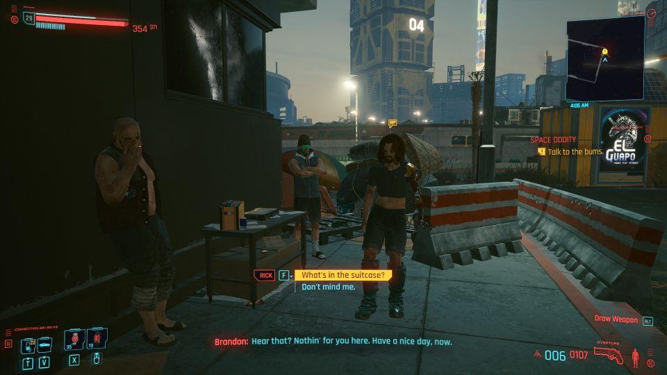 cyberpunk 2077 - space oddity guide