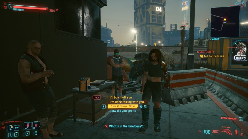 cyberpunk 2077 - space oddity walkthrough